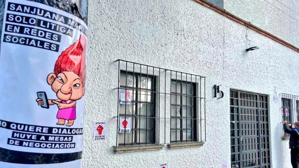 Sutnotimex denuncia que Sanjuana Martínez toma represalias y obliga a laborar a trabajadores violando la huelga - Los trabajadores despedidos de forma injustificada exigen pronta solución al conflicto de Notimex. Foto Twitter @sutnotimex