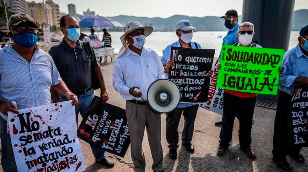 Periodistas exigen en Guerrero protección y garantías ante amenazas del crimen organizado - Foto EFE/David Guzmán