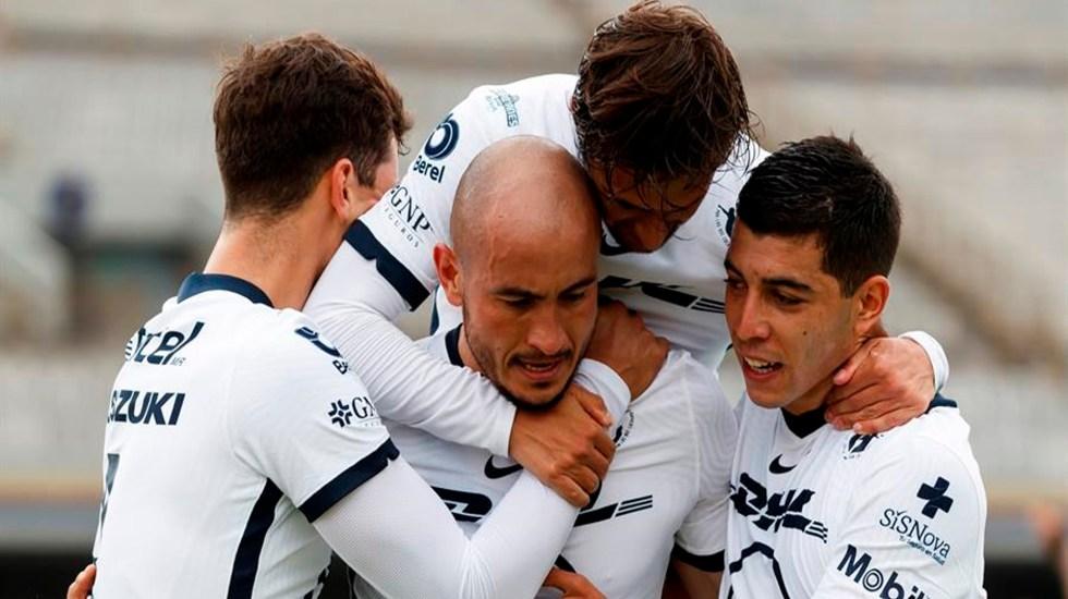 Pumas derrota 1-0 al Toluca; desbancan a Tigres del segundo puesto de la tabla - Foto EFE