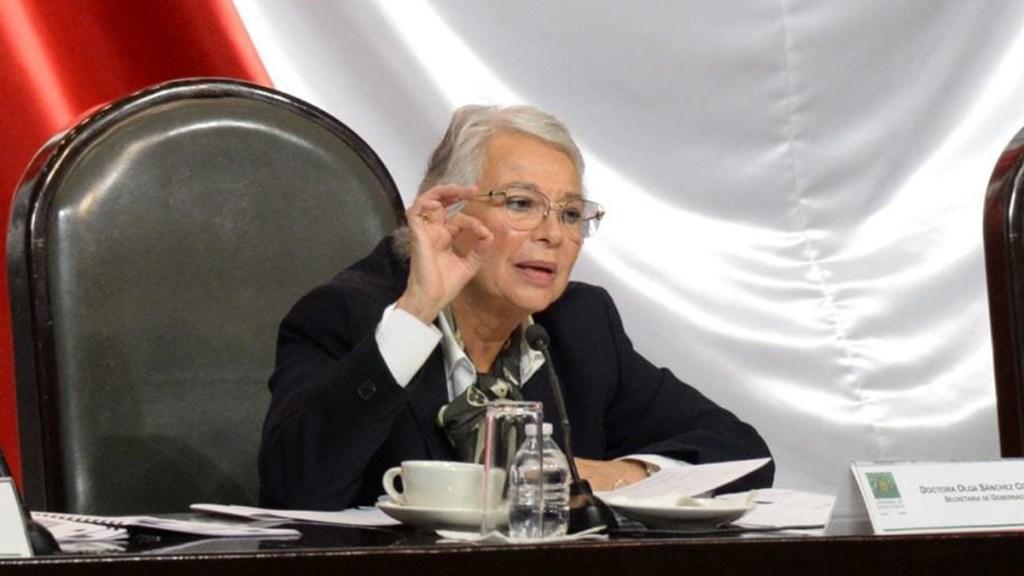 Descarta Sánchez Cordero buscar la Presidencia de la República - Sánchez Cordero en comparecencia ante la Cámara de Diputados. Foto de @SEGOB_mx