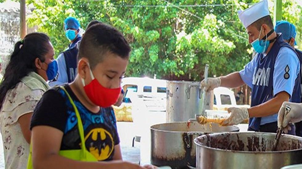 Agradece Héctor Astudillo apoyo de Semar en Guerrero con cocinas comunitarias durante pandemia - Foto Twitter @HectorAstudillo
