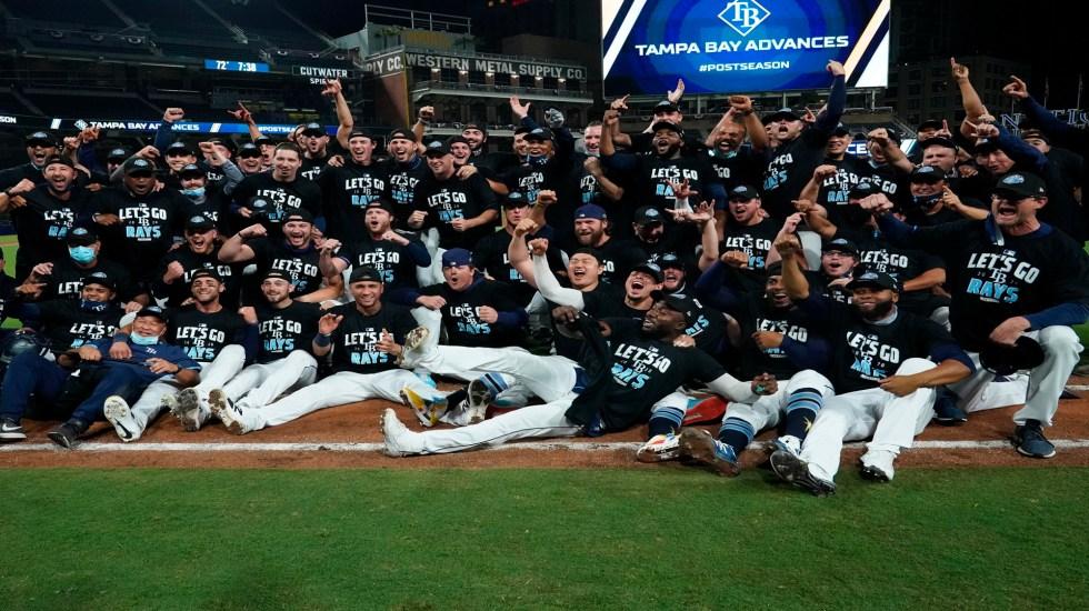 Rays de Tampa Bay derrotan a Yankees y jugarán Serie de Campeonato contra Astros de Houston - Foto @raysbeisbol