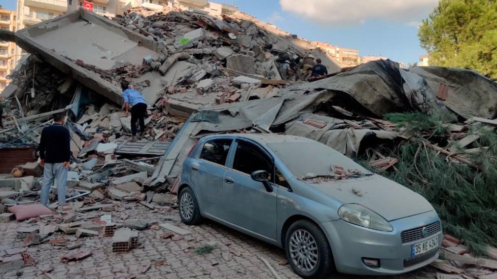 Al menos cuatro muertos y 152 heridos tras terremoto en Esmirna, Turquía - Foto de EFE