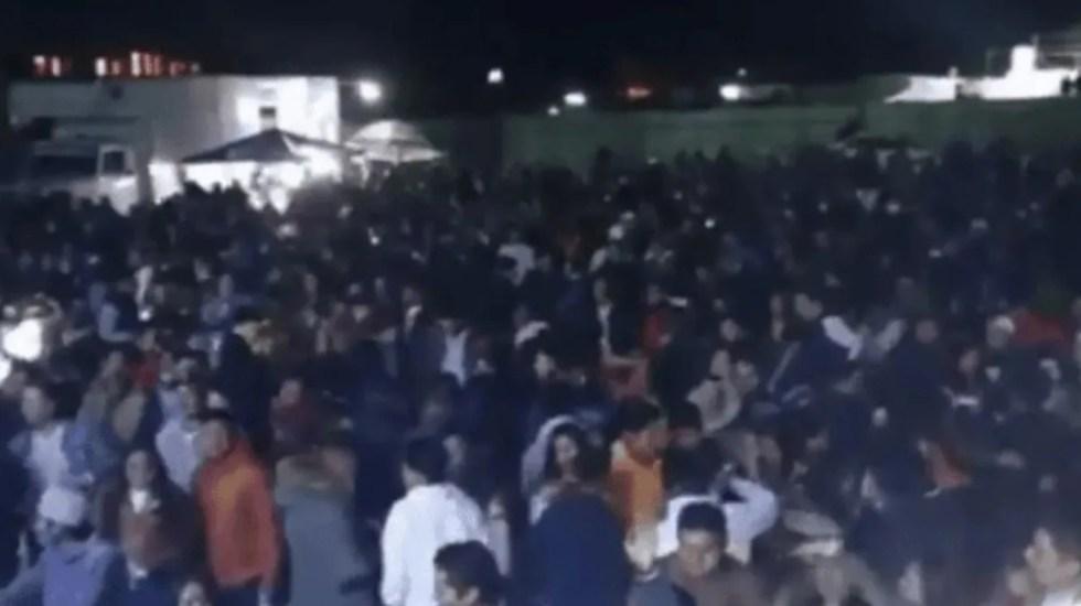 #Video Realizan baile masivo en Toluca pese a pandemia - Foto de captura de pantalla