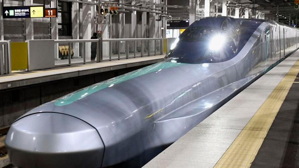 Nueva generación de tren bala en Japón alcanza los 382 km/h - Foto Twitter @Sankei_news