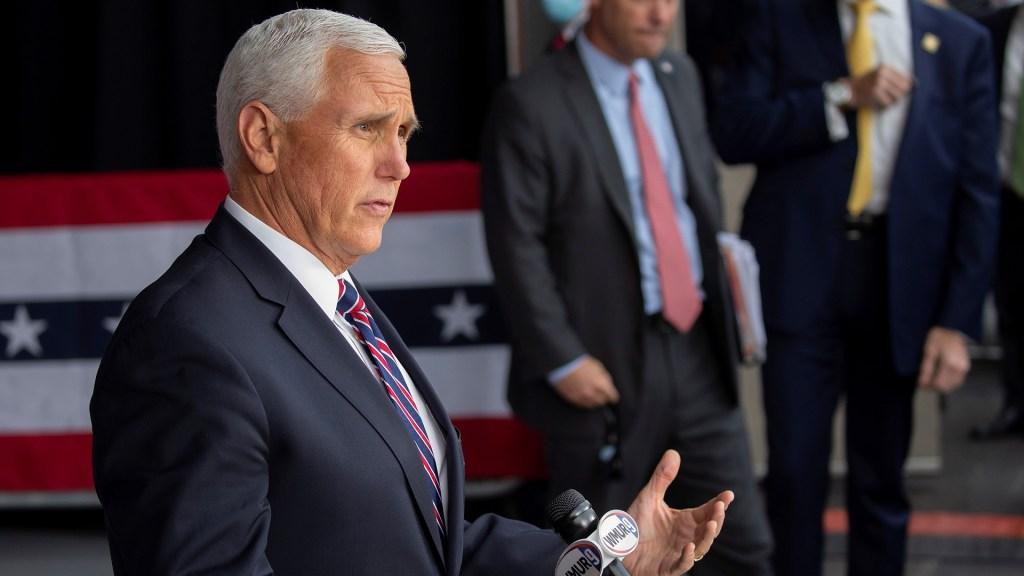 """""""No tuvo el coraje"""" Trump arremete contra Mike Pence por negarse a revocar victoria de Biden - Vicepresidente de EE.UU., Mike Pence. Foto de EFE"""