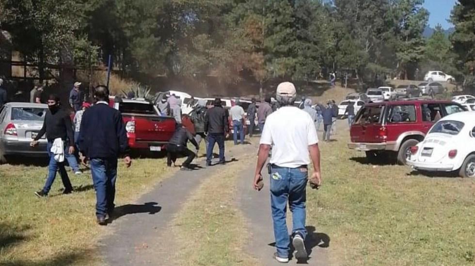 #Video Al menos 15 heridos por enfrentamiento entre grupos de la CNTE en Paracho, Michoacán - Foto de Cuarto Poder Michoacán
