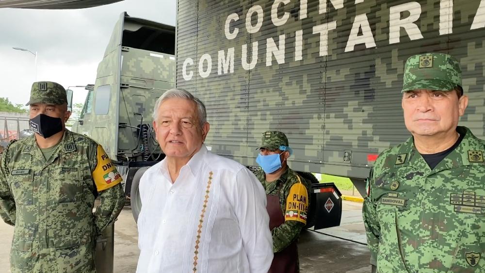 El presidente López Obrador asegura que ya está bajando el nivel de los ríos en Tabasco - Foto de captura de pantalla