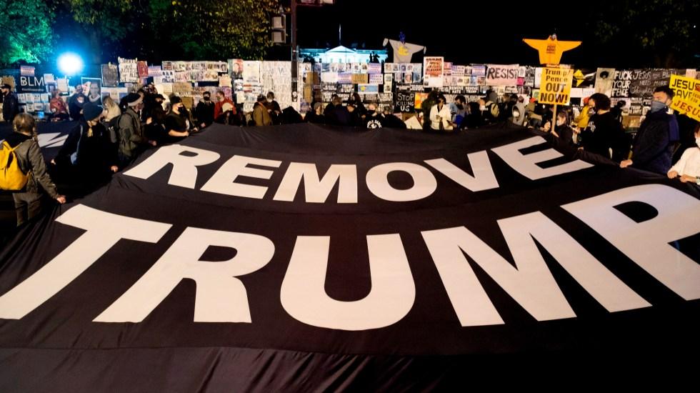 Se registran momentos de tensión muy cerca de la Casa Blanca - Foto de EFE