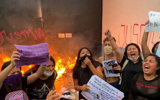 ONU Mujeres pide investigación sobre agresiones contra manifestantes en Cancún - Foto de EFE.