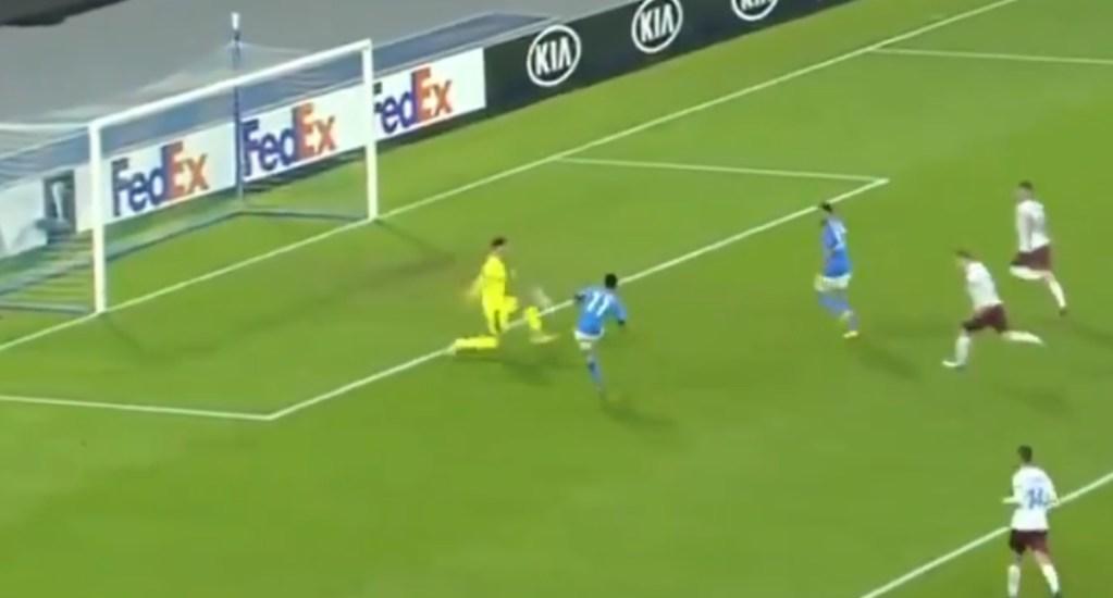 #Video Golazo de 'Chucky' Lozano en partido ante Rijeka; Nápoles rinde homenaje a Maradona - Chuky Lozano gol Napoli