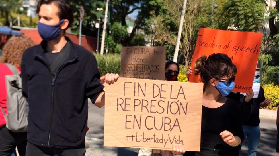 Cubanos en México condenan represión a grupo disidente Movimiento San Isidro - Cubanos en México condenan represión a grupo disidente Movimiento San Isidro. Foto Twitter @article19mex