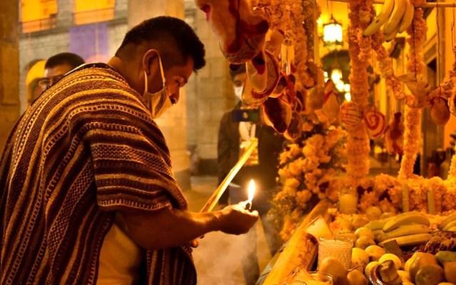 COVID-19 lleva a México a un inédito luto nacional por Día de Muertos - Día de Muertos en Palacio Nacional. Foto de @SecretariaCulturaMx
