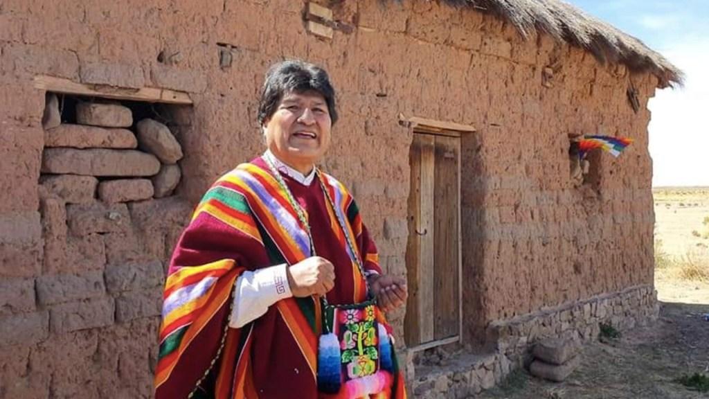 """""""Los salvajes estamos en el poder"""", responde Evo Morales a Jeanine Áñez - Foto de Twitter de Evo Morales"""