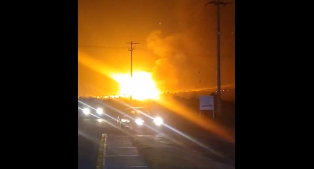 #VIDEO Fuerte incendio y explosión en empresa gasera de Apan, Hidalgo; abren investigación - Explosión Hidalgo gasera Apan