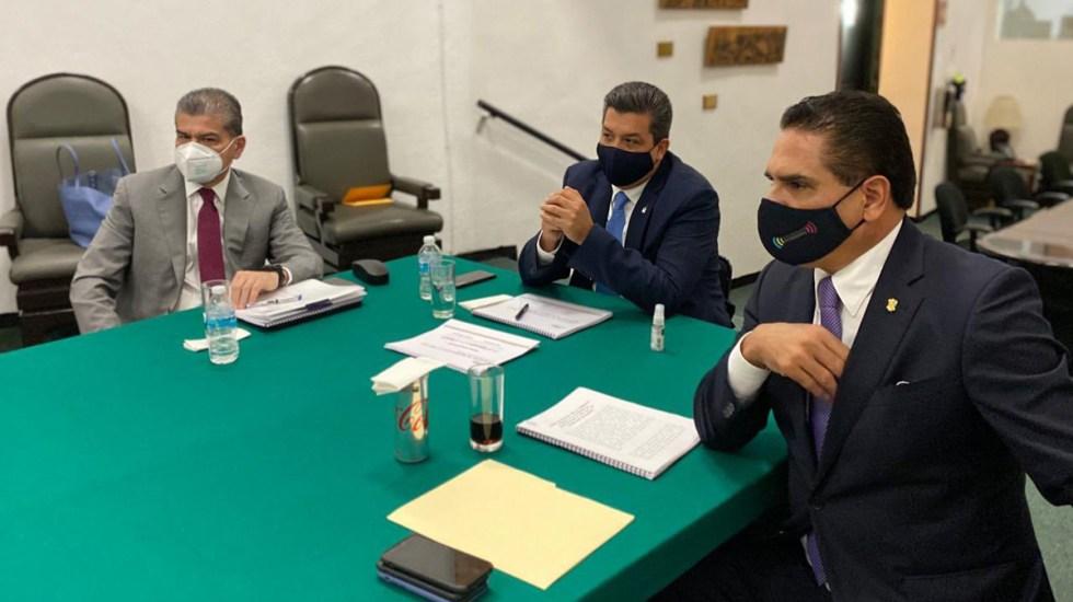Reciben diputados a gobernadores de Alianza Federalista para atender petición sobre Presupuesto 2021 - Gobernadores de Alianza Federalistas en reunión con Jucopo de Cámara de Diputados. Foto de @mrikelme