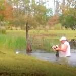 #Video Hombre salva de las fauces de cocodrilo a su perro en lago de Florida