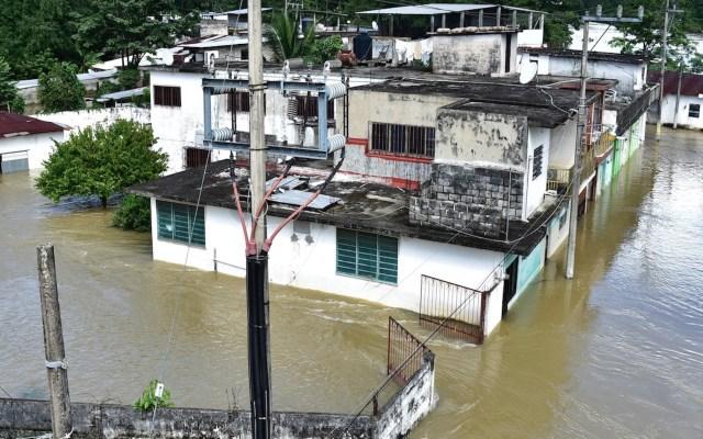 Desalojan comunidades de Tabasco ante incremento de nivel del río Usumacinta - Foto de EFE