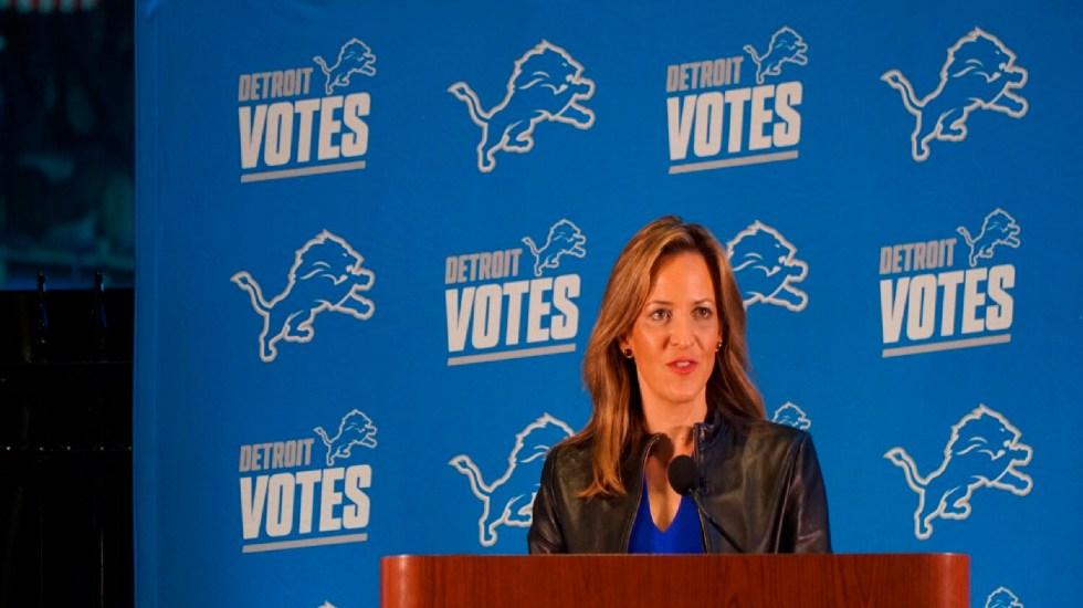Confía Jocelyn Benson que Michigan ofrezca resultados de elecciones presidenciales en las próximas 24 horas - Foto Twitter @JocelynBenson