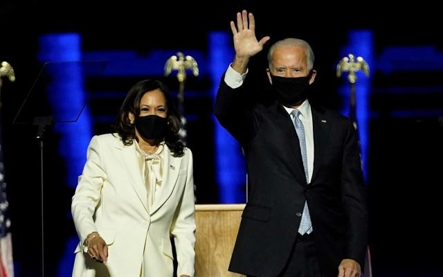 Equipo de Biden iniciará reuniones con Administración de Trump para abordar transición - Joe Biden y Kamala Harris durante evento tras resultar presidente y vicepresidenta electos. Foto de EFE
