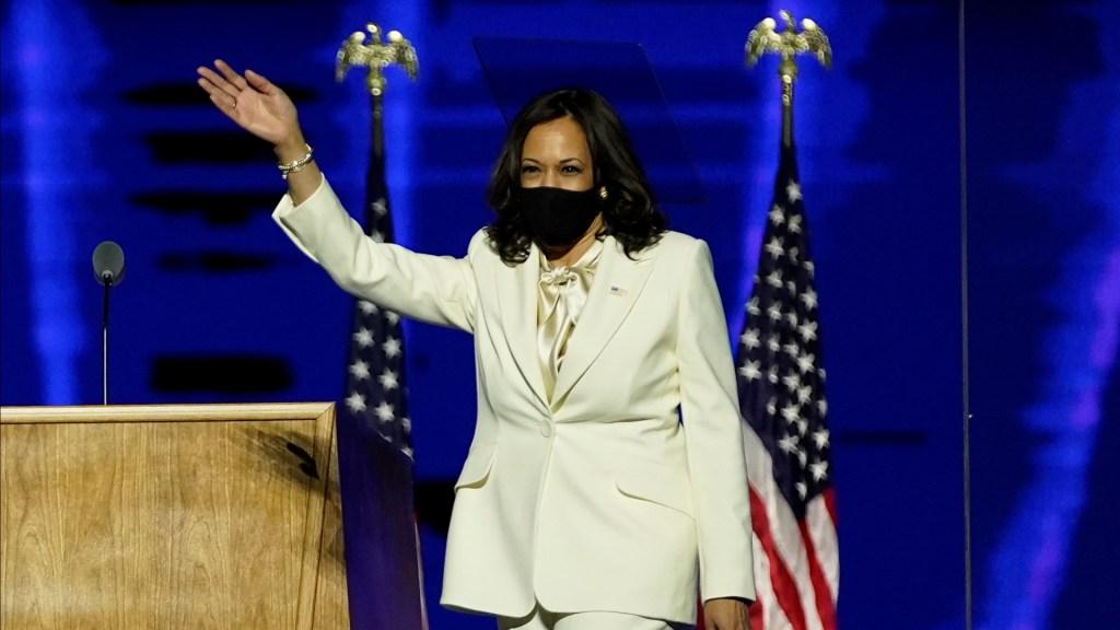 Celebra India triunfo de Kamala Harris, quien exalta sus orígenes indios - Kamala Harris durante evento tras resultar vicepresidenta electa de EE.UU. Foto de EFE