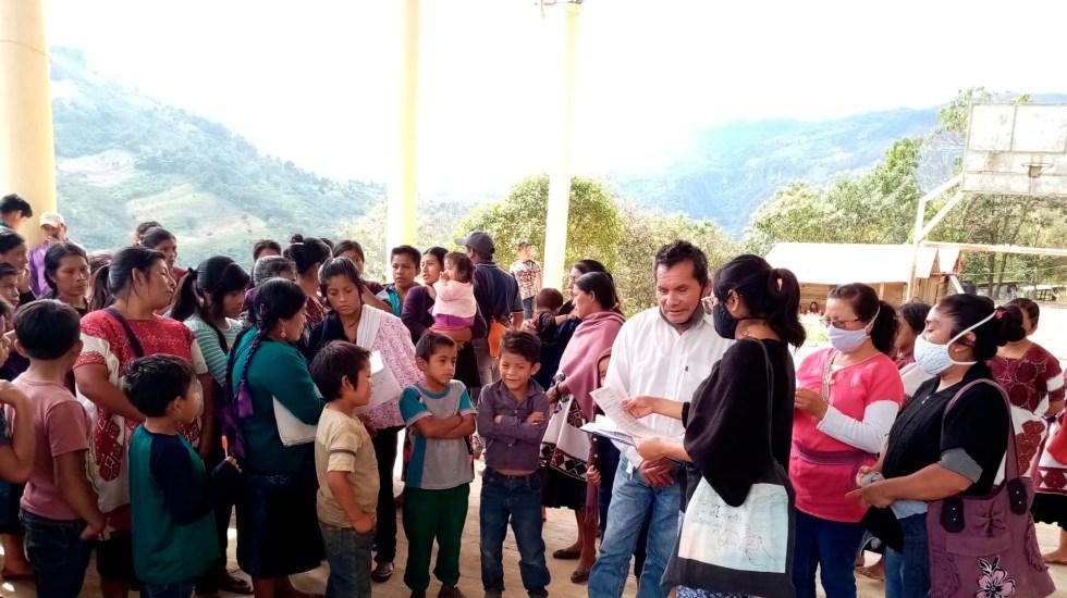 Denuncia Ofelia Medina ataque a religiosas y activistas en Aldama, Chiapas; alerta por grave crisis en la región - La caravana con ayuda humanitaria que llevó el Fideo y Cáritas a familias de desplazados en Aldama, Chiapas, fue baleada por grupos armados. Foto Twitter @@H_Robles