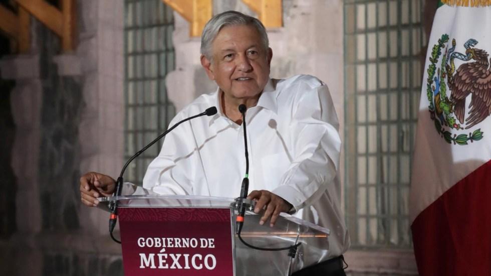 """Sentencia López Obrador que solo usaría cubrebocas """"por respeto a la gente"""" - López Obrador durante evento oficial. Foto de lopezobrador.org.mx"""