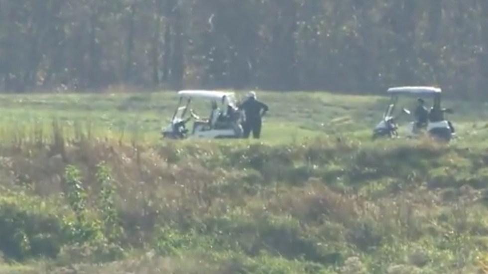 #Video Donald Trump juega golf tras virtual triunfo de Joe Biden - Captura de pantalla