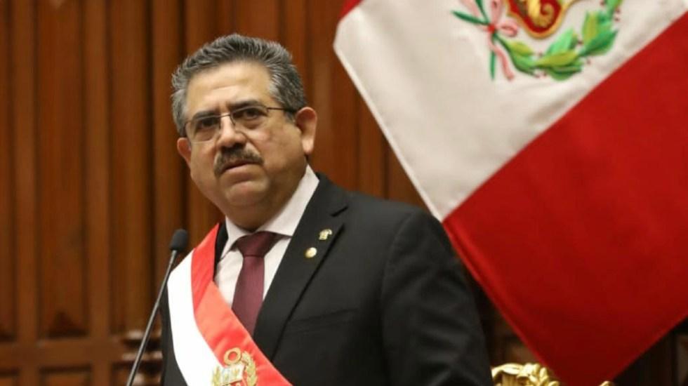 Se debilita apoyo político a nuevo presidente de Perú entre críticas globales - Foto de @congresoperu