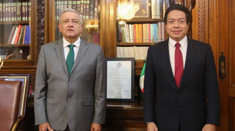 López Obrador agradece a Mario Delgado por impulsar reformas de la 4-T en Cámara de Diputados - Mario Delgado AMLO Andrés Manuel López Obrador reunión