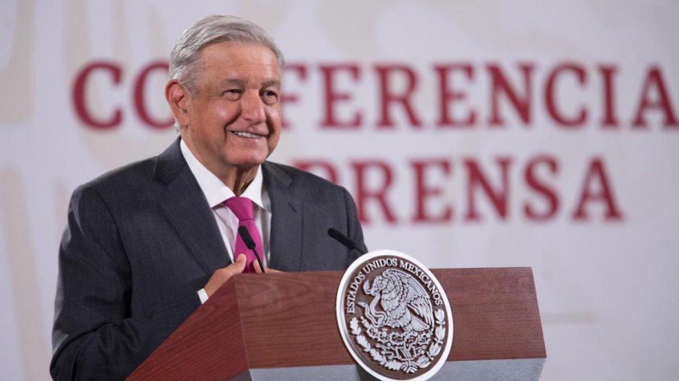 """""""¿Por qué tanta ansia, tanta desesperación?"""" por felicitar a Joe Biden, pregunta el presidente López Obrador - El presidente López Obrador. Foto de Gobierno de México."""