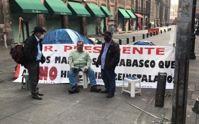 Profesores de Tabasco mantendrán plantón en inmediaciones de Palacio Nacional hasta que sean atendidos por AMLO - Foto de Telediario