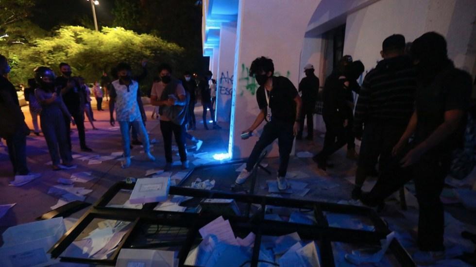 Exige CNDH investigación objetiva sobre agresiones a manifestantes en Cancún - Foto de EFE