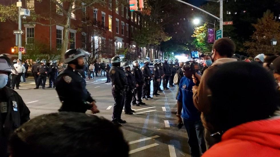 Decenas de detenidos en Nueva York tras protestas contra Donald Trump - Foto Twitter @protest_nyc