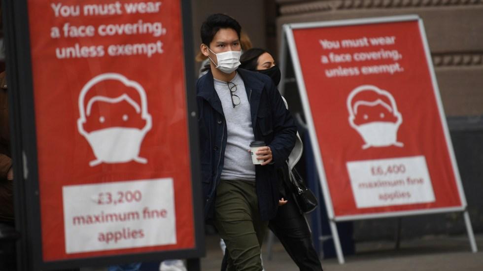 Reino Unido registra 492 muertes por COVID-19, un récord desde mayo - Foto de EFE