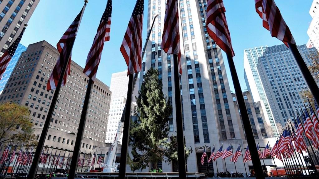 #Video Llega el árbol navideño al Rockefeller Center - Foto de EFE