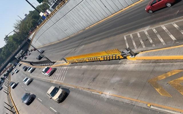 Operarán carriles reversibles en Circuito Interior a partir del 23 de noviembre - Señalamiento de inicio de carriles reversibles en Circuito Interior. Foto de Gobierno CDMX