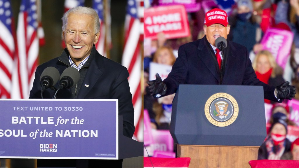 Cierre frenético de las campañas de cara a las elecciones en EE.UU.; Biden aventaja a Trump en encuestas - Trump y Biden elecciones 2020 Estados Unidos