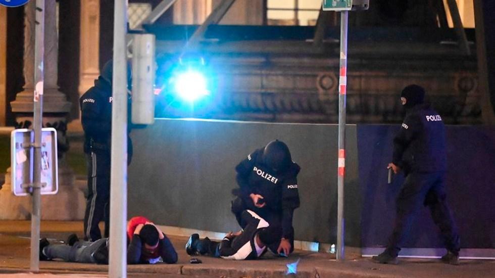 Inicia en Viena búsqueda de al menos un sospechoso por atentado que dejó dos muertos - Foto EFE
