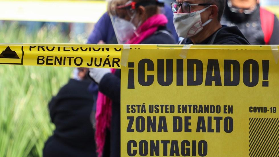 Falsa, alerta sobre una inminente 'incubación' de COVID-19 en México - Zona de alto contagio de COVID-19 en la Ciudad de México. Foto de EFE
