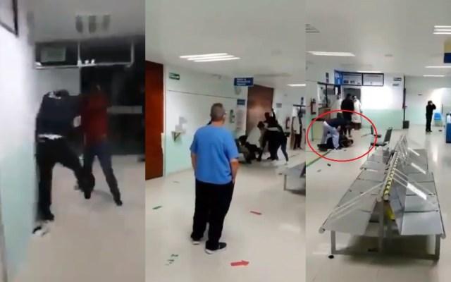 #Video Exigen atención médica por COVID-19 a golpes en hospital de Tlaxcala - Agresión en hospital de Tlaxcala. Captura de pantalla