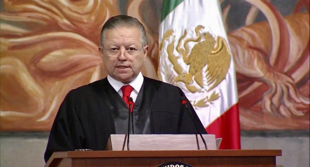 #EnVivo Segundo Informe Anual de Labores del Poder Judicial de la Federación - El ministro presidente, Arturo Zaldívar. Foto de SCJN.