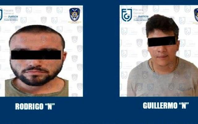 Detienen a sospechosos por asesinato de hermanos en Airbnb de Xochimilco - Captura FGJCDMX a dos sujetos presuntamente relacionados con homicidio de dos hermanos ocurrido en Xochimilco. Foto Twitter @FiscaliaCDMX