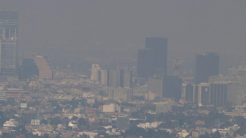 Contaminación del aire en México aumenta riesgo de muerte por COVID-19 - Contaminación del aire en el Valle de México. Foto de EFE