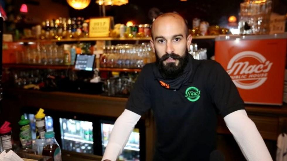 Gerente de bar en Nueva York atropella a policía que iba a multarlo por violar nombras contra COVID-19 - Daniel Presti gerente bar COVID-19 Nueva York