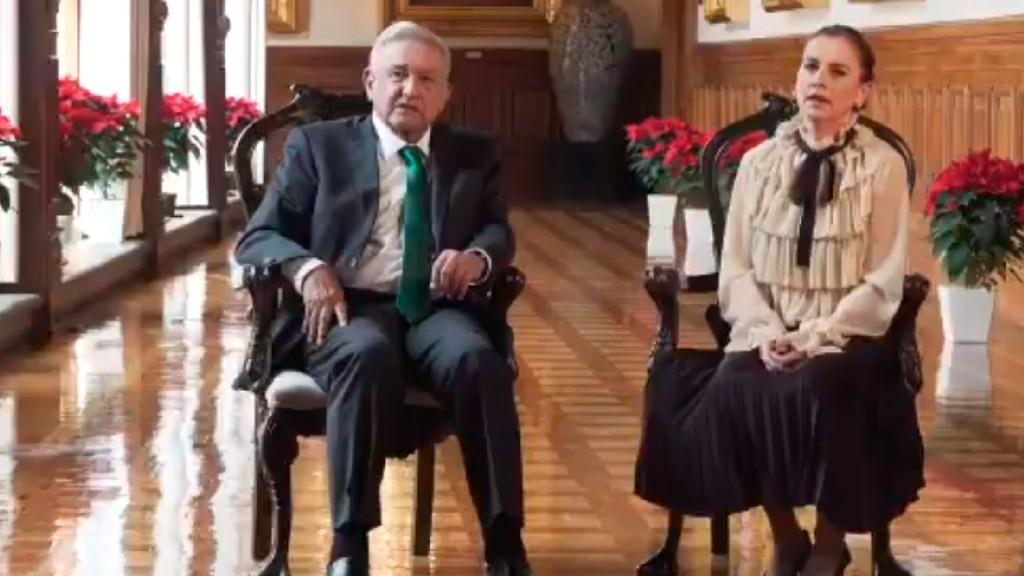 """""""Milagro tener vacuna contra COVID-19 en menos de un año"""": mensaje de López Obrador por Navidad - Es Nochebuena y a pesar de los difíciles tiempos que atravesamos, debemos mantener la fe AMLO. Foto Captura de pantalla"""
