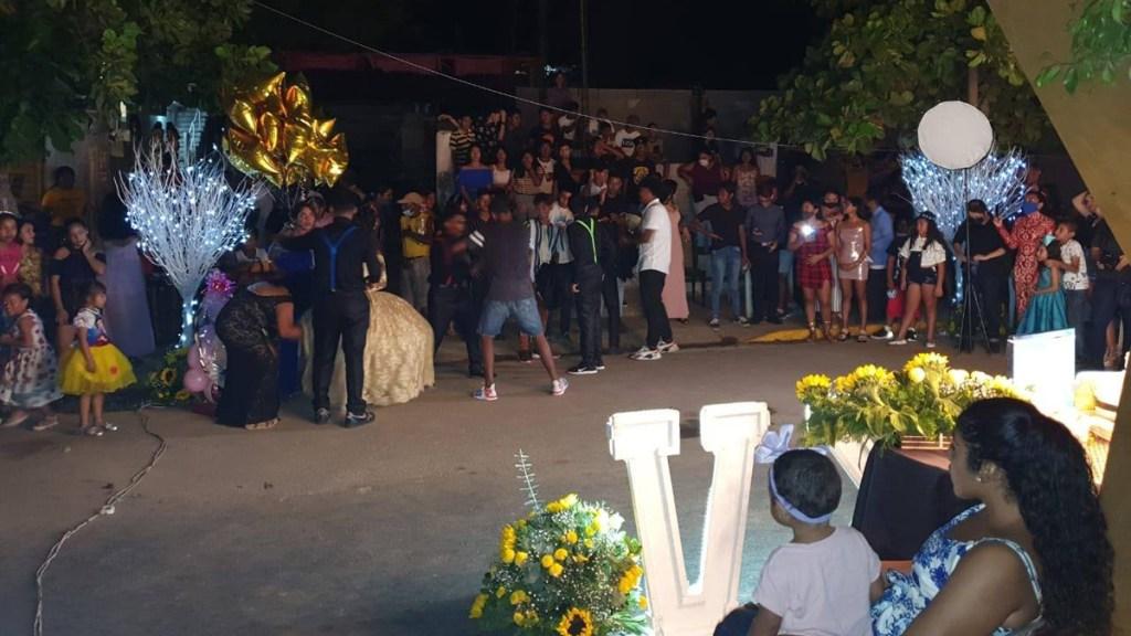 Suspenden en Acapulco fiesta de XV Años con más de 500 invitados y sin sana distancia - Fiesta de XV años en Acapulco, Guerrero. Foto de @GobiernoMunicipaldeAcapulco