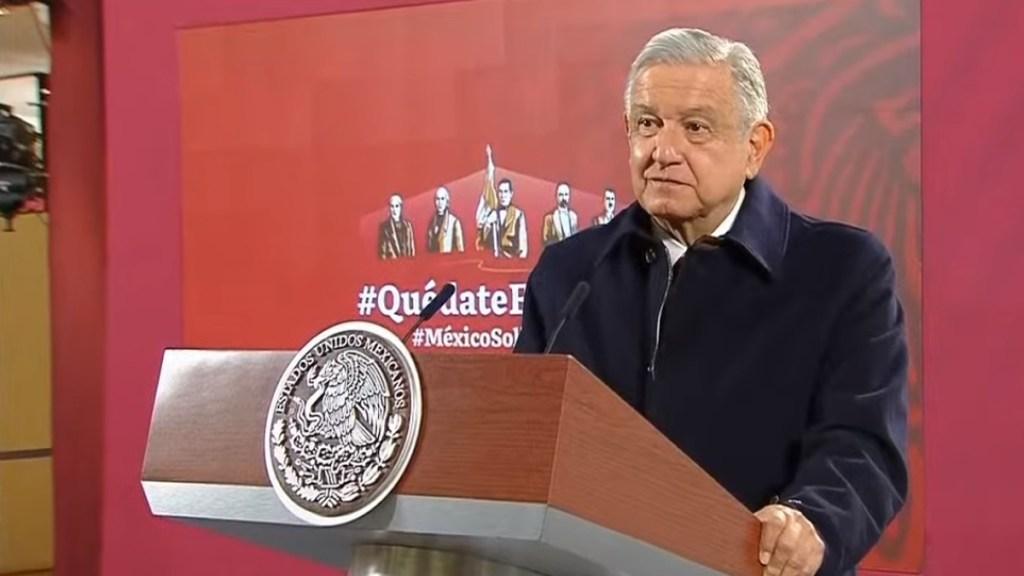 INE emite medidas cautelares contra AMLO por pronunciarse sobre coalición PRI, PAN y PRD - López Obrador en conferencia matutina. Captura de pantalla