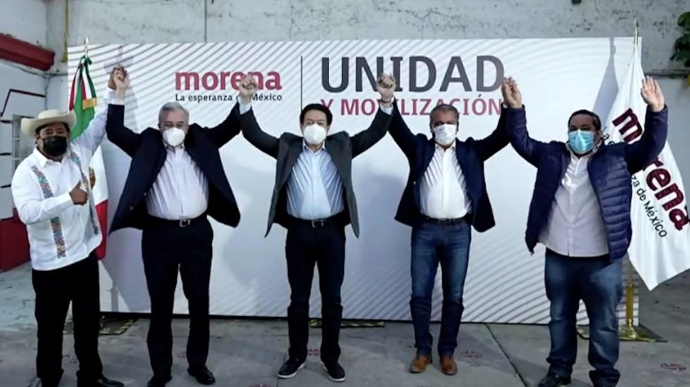 Morena presenta candidatos a gubernaturas de Guerrero, Sinaloa y Michoacán - Captura de pantalla