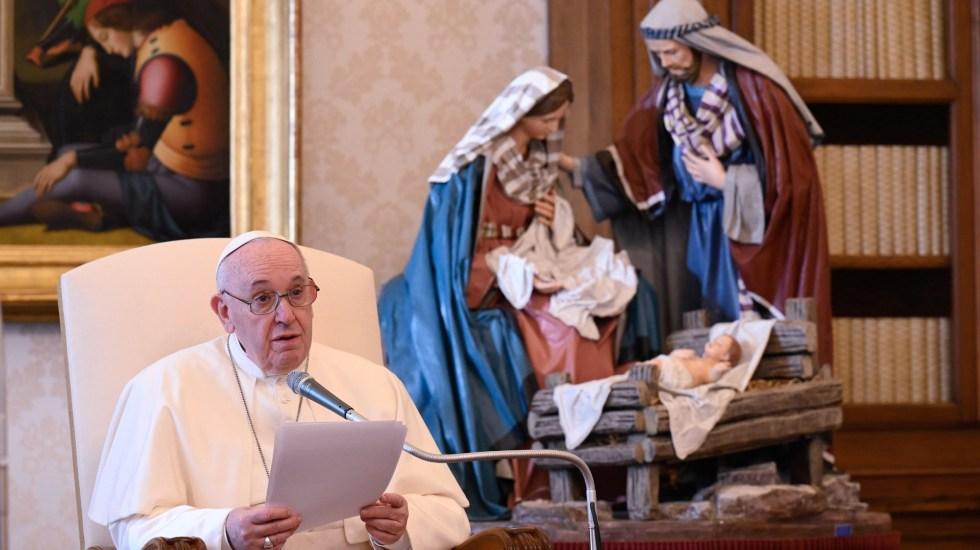 Papa Francisco afirma que pandemia agravó crisis climática, alimentaria y migratoria - Papa Francisco durante audiencia general. Foto de EFE